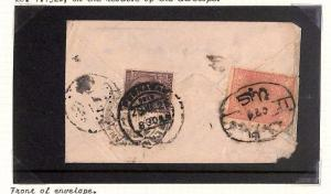 Ap81 Asia Cover 1926 AFGHANISTAN INDIA Combination MIXED FRANKING Peshawar