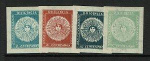 Uruguay SC# 410 - 413 Mint Hinged / Hinge Rems - S11946