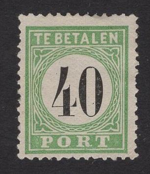 Netherlands Antilles #J9  used  1889 postage due 40c