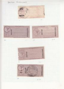 British Somaliland: Small Lot of Revenue Stamps (23766)