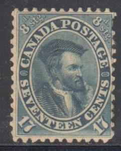 CANADA #19 MINT OG NH C$4000.00 - Extremely Scarce stamp