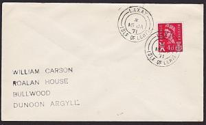 GB SCOTLAND 1971 cover LAXAY / ISLE OF LEWIS  cds..........................66697