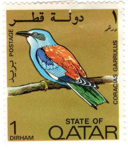 Qatar Scott 279 (1972: European Roller - Bird)