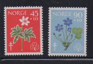 Norway Sc B62-3 1960 Flowers anti TB stamps mint NH