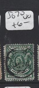 BRITISH EAST AFRICA (P2705BB)  LION QV  4 A  SG 70     VFU