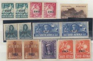 South West Africa 1941/43 War Effort Full Set SG114/122 MH J8404