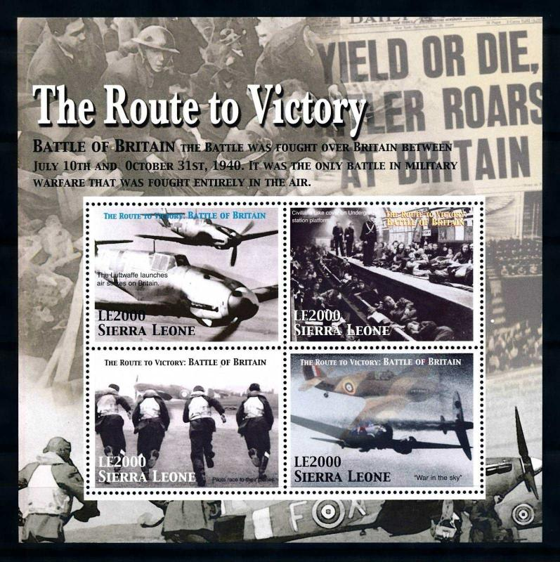 [76722] Sierra Leone 2005 World War II Battle of Britain London Sheet MNH