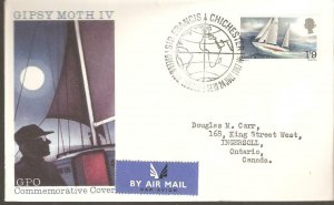 1967 SIR FRANCIS CHICHESTER GPO FIRST DAY COVER  WITH  GREENWICH FDC