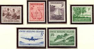 Cocos / Keeling Islands SC# 1-6 Scenes & People set MNH