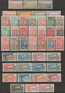 Cameroun 1925-38 Sc 170-211 Yt 106-48 complete set MH*/MNH**/MNG(*)