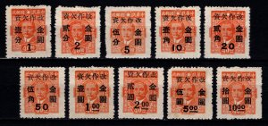 China 1949 Postage Due Gold Yuan Surch., Set [Unused]
