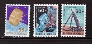 Indonesia  Scott 819-821 MH* stamp set