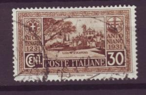 J529 jl,s stamps 1931 italy 30c used scn 260