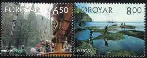 (CMA) Faroe Islands Scott #447-48 MNH Complete Set