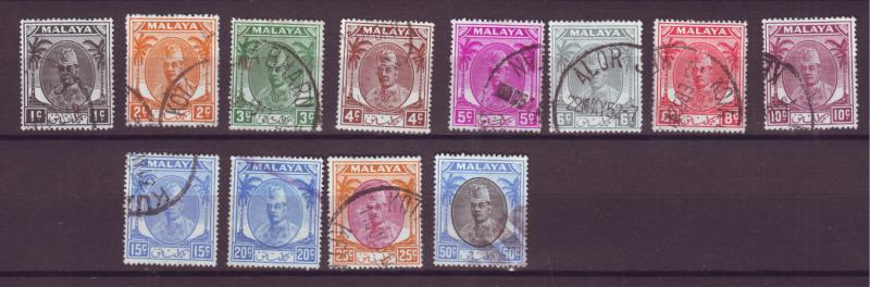 J17938 JLstamps [low price] various 1951-5 malaya kelantan used #50- sultan