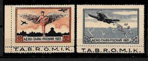 POLAND STAMPS, 1921, AIR POST. MINT NO GUM