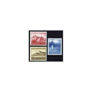 Norway 690-692,MNH.Michel 739-741. Akershus Castle,Lighthouses,1977.