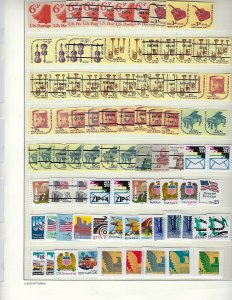 US COLLECTION OF150+ BULK RATE/PRESORTED FIRST CLASS/NONPROFIT STRIPS-MINT NH.