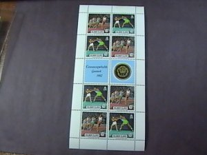 SOLOMON ISLANDS # 475-476-MINT/NEVER HINGED----MINI-SHEET OF EIGHT------1982