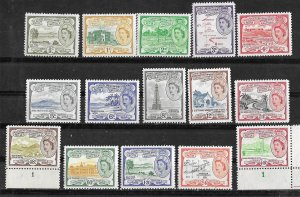 St. Kitts-Nevis  # 120-134 QE II Definitives   complete   (15)  VLH/NH Unused