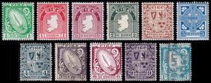 Ireland Scott 65-74, 76 (1922-23) Mint/Used H F-VF, CV $86.00
