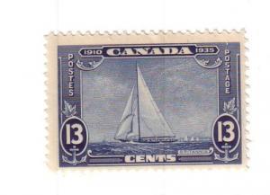 Canada Sc 216 1935 13c Royal Yacht Britannia stamp mint