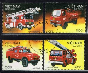 Viet Nam DR ~ #2965A-D ~ Fire Trucks ~ Used CTO Set