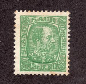 Iceland - Facit# 65 / Sc# 36 Mint Hinged (toned gum)  /  Lot 1114070
