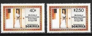 DOMINICA SG732a/3a 1980 80th BIRTHDAY OF QUEEN MOTHER p14 MNH