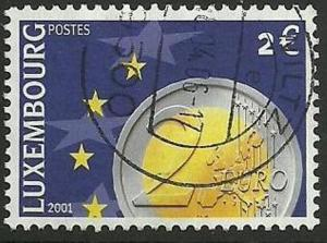 LUXEMBOURG SG1574 2001 EURO CURRENCY €2 FINE USED