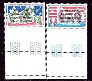 Wallis and Futuna 205-06 MNH 1978 Overprints    (ap4275)