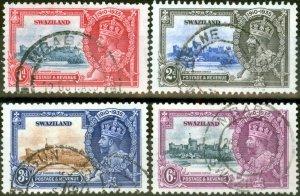 Swaziland 1935 Jubilee set of 4 SG21-24 Fine Used