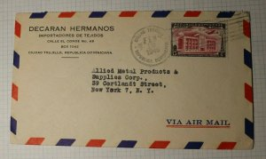 Dominican Republkic Airmail Cover to USA Allied Metal 1948 sc# C50
