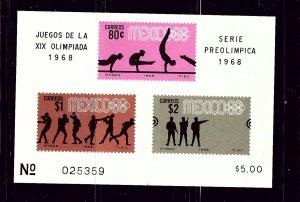 Mexico C342a MNH 1968 Olympics S/S