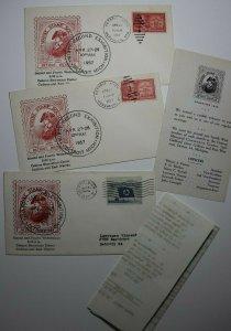 Wayne STamp Society Detroit MI 1957 Gen Anthony Wayne Philatelic Expo Cachet