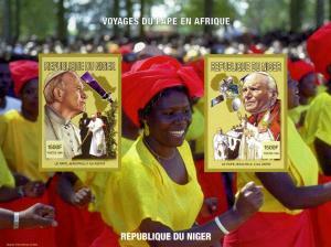 Niger 1998 SPACE Pope John Paul II-Winnie MandeIa s/s Imperforated mnh.vf