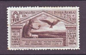 J22559 Jlstamps 1930 italy mh #c25 virgtil type, signed
