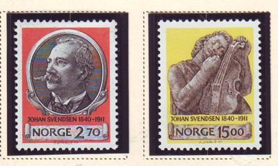 Norway Sc 982-3 1990 Svendsen stamps mint NH