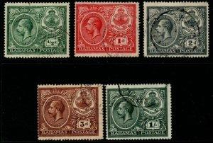 BAHAMAS SG106/10 1920 PEACE FINE USED