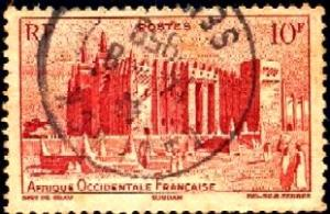 Djenne Mosque, French Sudan, French West Africa stamp SC#51 used