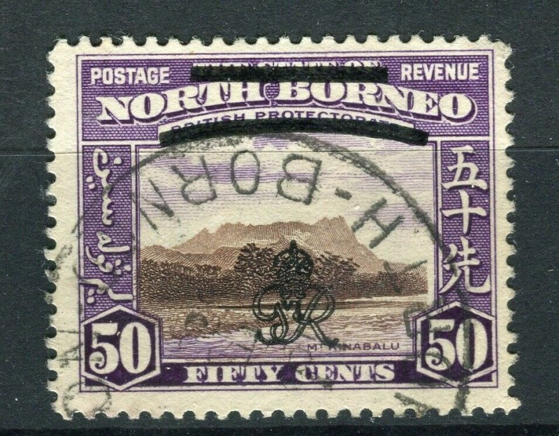 NORTH BORNEO; 1947 early Crown Colony issue fine used 50c. value, Postmark