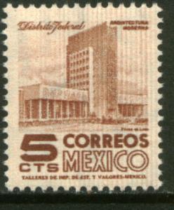 MEXICO 857Var 5cts 1950 Definitive 1st Ptg wmk 279 w/lines