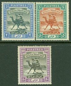 EDW1949SELL : SUDAN 1898 Scott #14-16 Very Fine, Mint Original Gum. Catalog $127