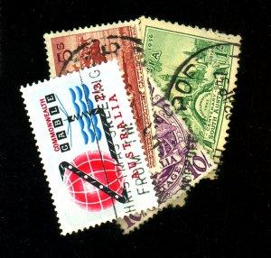 Australia #159-161,219,331,381 Used FVF Cat$23.50