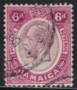 JAMAICA  SC# 67 **USED** 6p 1911  KING GEORGE V SEE SCAN