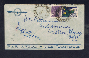 1937 CONDOR COVER TO ISLE OF WIGHT