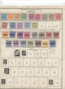 STAMP STATION PERTH - Austria #56 Mint/Used Stamps on Paper- Unchecked