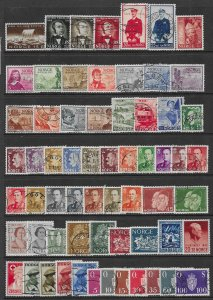 Norway 60+ different stamps 2017 SCV $47.50.- good starter collection - 12493