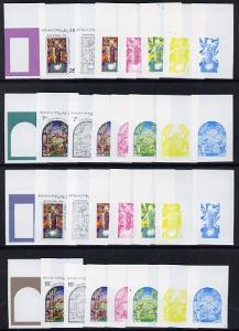 Nauru 1975 Stained Glass Windows Christmas set of 4 each ...