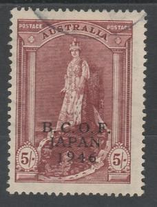 BCOF JAPAN OCCUPATION 1946 ROBES 5/- USED THIN PAPER
